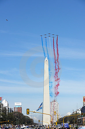 Patrouille de France in Buenos Aires Editorial Photography