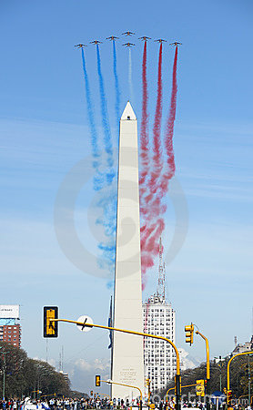 Patrouille de France in Buenos Aires Editorial Stock Image