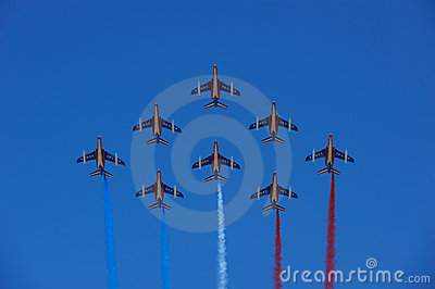 Patrouille de France formation flight Editorial Stock Image