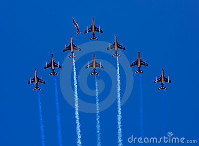 Patrouille de France formation flight Editorial Image