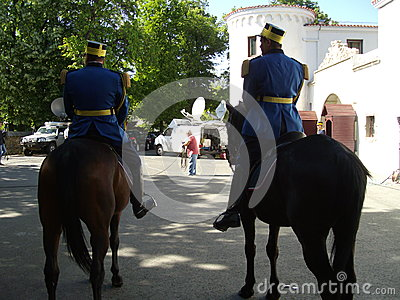 Patrouille zu Pferd Redaktionelles Stockbild