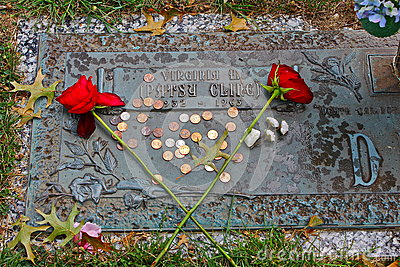 Patsy Cline Grave Editorial Stock Image