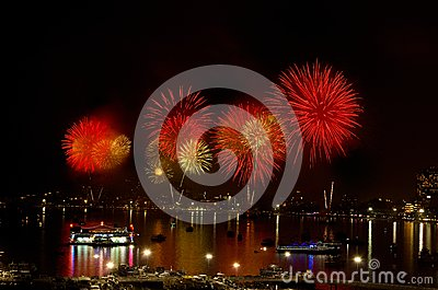 Pattaya International Fireworks Festival 2012 Editorial Image