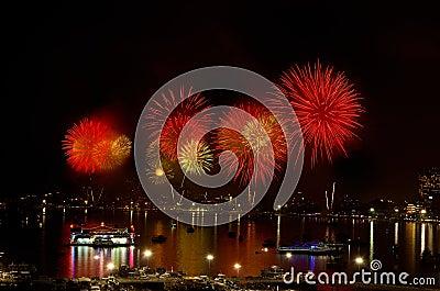 Pattaya International Fireworks Festival 2012 Editorial Image