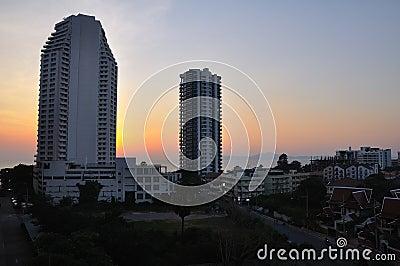 Pattaya on sunset