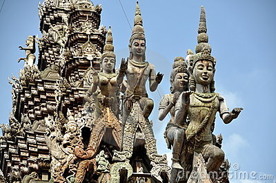 Pattaya, Thailand: Sanctuary of Truth Carvings