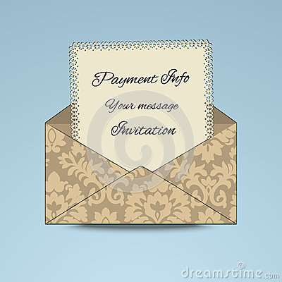 Patterened Envelope with paper