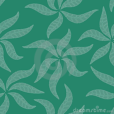 Pattern with abstract leafs