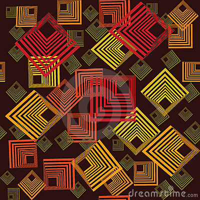 Pattern with abstract squares