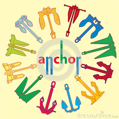 Pattern of the anchors
