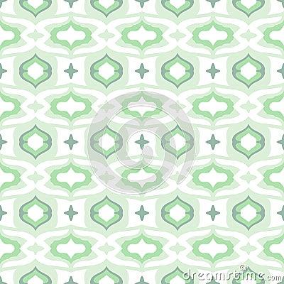 Pattern with Arabic motifs in cool mint green