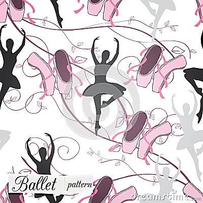 Pattern on ballet theme
