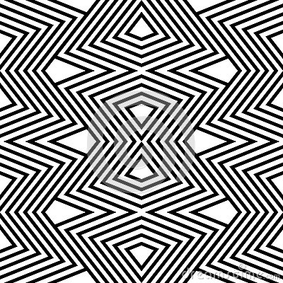 Pattern black and white zigzag