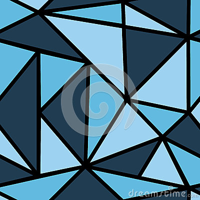 Pattern with blue triangle Stock Photo