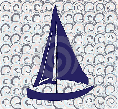 Pattern with a boat
