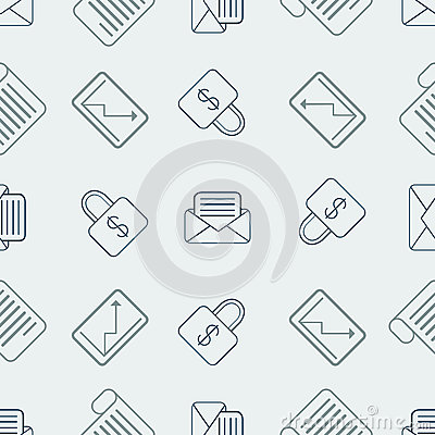Pattern with bussines elements Vector Illustration