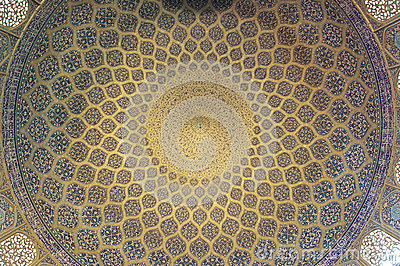 Pattern of ceiling in Sheikh Lotf Allah Mosque
