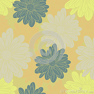 Pattern with chamomile