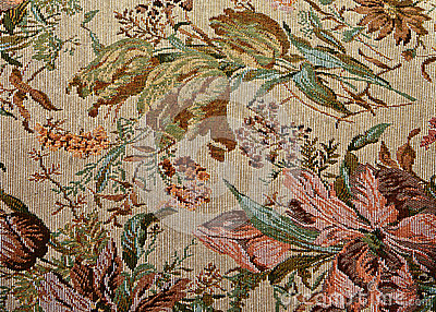 Pattern of classical ornate  floral tapestry