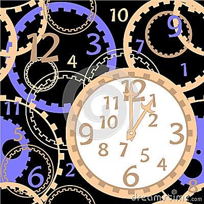 Pattern clock gear