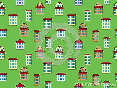 Pattern with color buildings