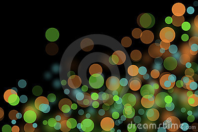 Pattern of colorful decoration lights.