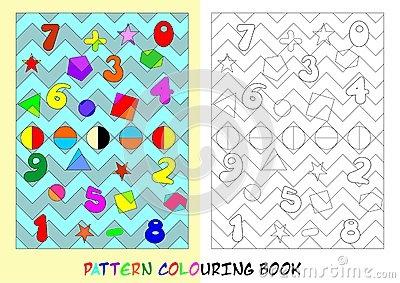 Pattern colouring book - cdr format