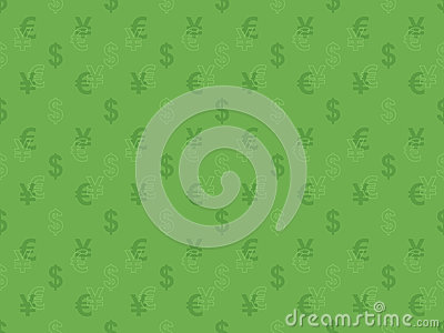 Pattern with currency signs
