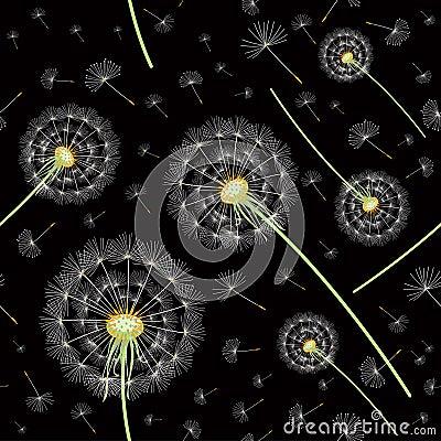 Pattern of dandelions