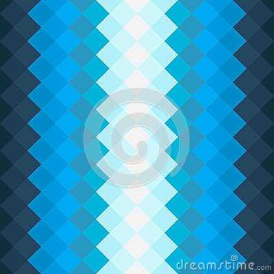 Pattern with dark blue and blue squares Vector Illustration