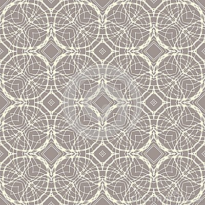 Pattern With Decorative Shapes In Organic Brown Royalty