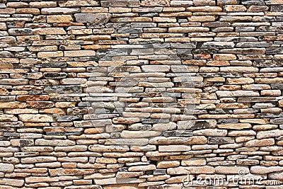Pattern dry stone wall