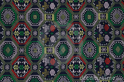 Pattern of embroidery of Chinese minority style