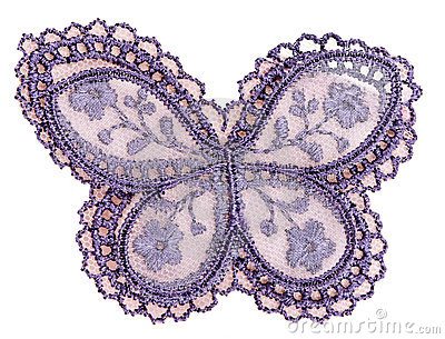 Pattern on the fabric, butterfly