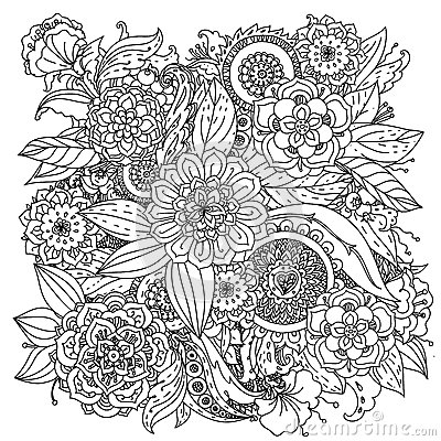 Free Pattern For Coloring Book Stock Photography - 59649072