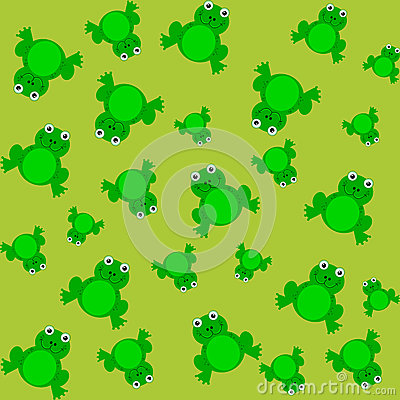 Free Pattern For Wrapping Paper And Filled With Frog Royalty Free Stock Photos - 42794408