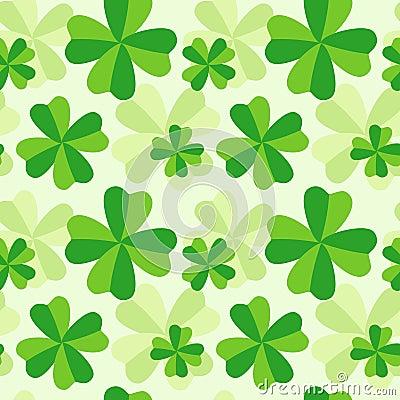Pattern of four leaf clover