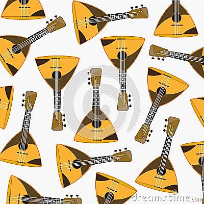 Free Pattern From Music Instrument Balalaika Stock Photo - 107711340