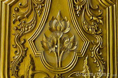 Pattern gold lotus thailand