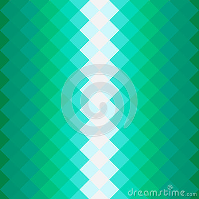 Pattern with green squares Vector Illustration