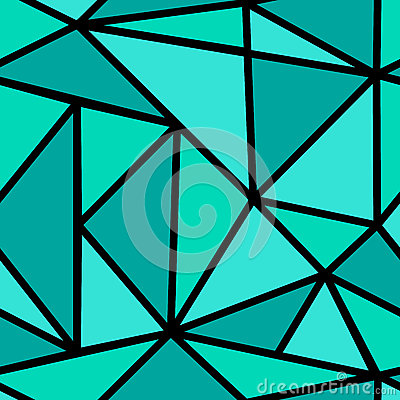 Pattern with green triangle Vector Illustration