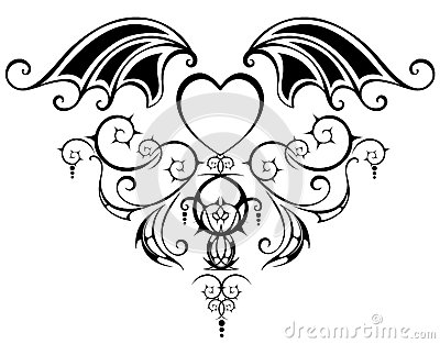Pattern with heart of the vampire