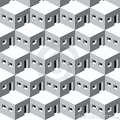 Pattern homes (vector)