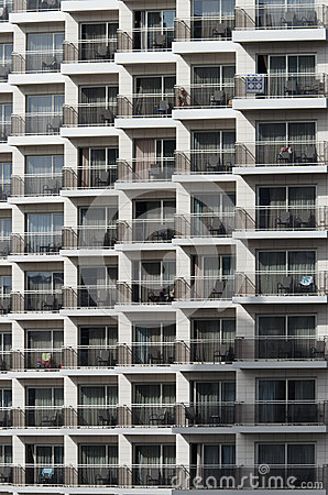 Pattern of hotel balconies