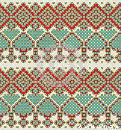Free Pattern In Folk Style Stock Image - 34689361