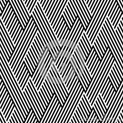 Free Pattern In Zigzag With Line Black And White Stock Photo - 25074450