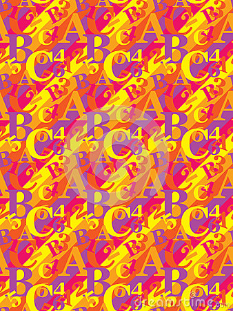 Pattern with letters and numbers
