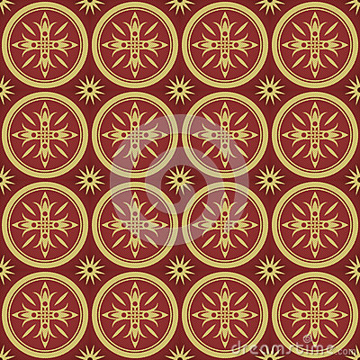 Pattern with lilies in the classical style