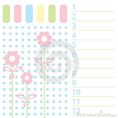 The Pattern list in baby registration.