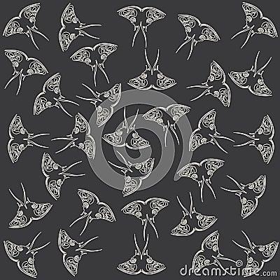 Pattern made of butterflies